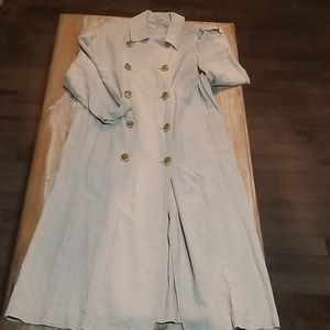 New Free People Linen Blend Trench Coat - XS